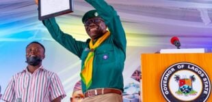 EXTRA: Sanwo-Olu calls boy 'best in UAR' for drawing caricature of him