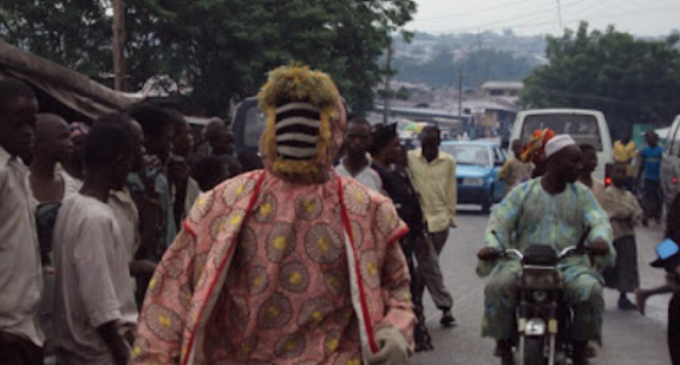 EXTRA: Police arrest masqueraders in Ondo for alleged robbery