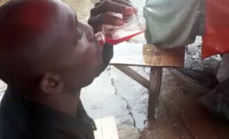 UNDERCOVER: How Lagos RRS officers drink 'paraga', play 'Baba Ijebu' while on duty (video)